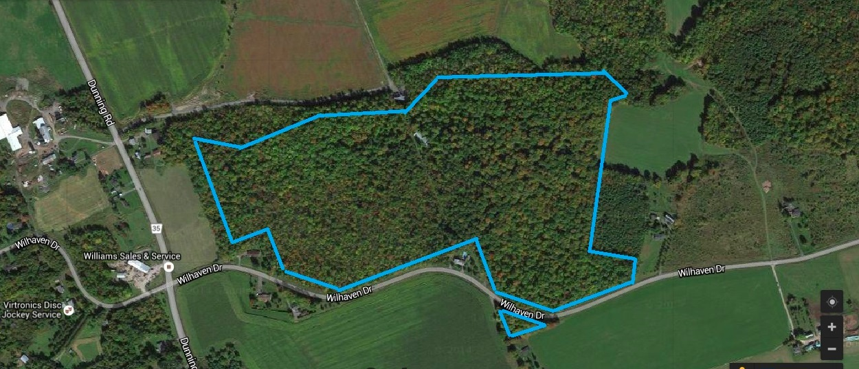 Aerial view of all lots for sale in one package.