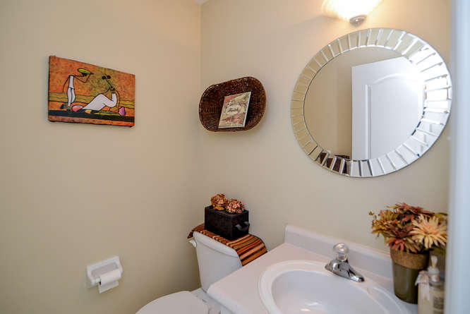 Powder room located on the main level.