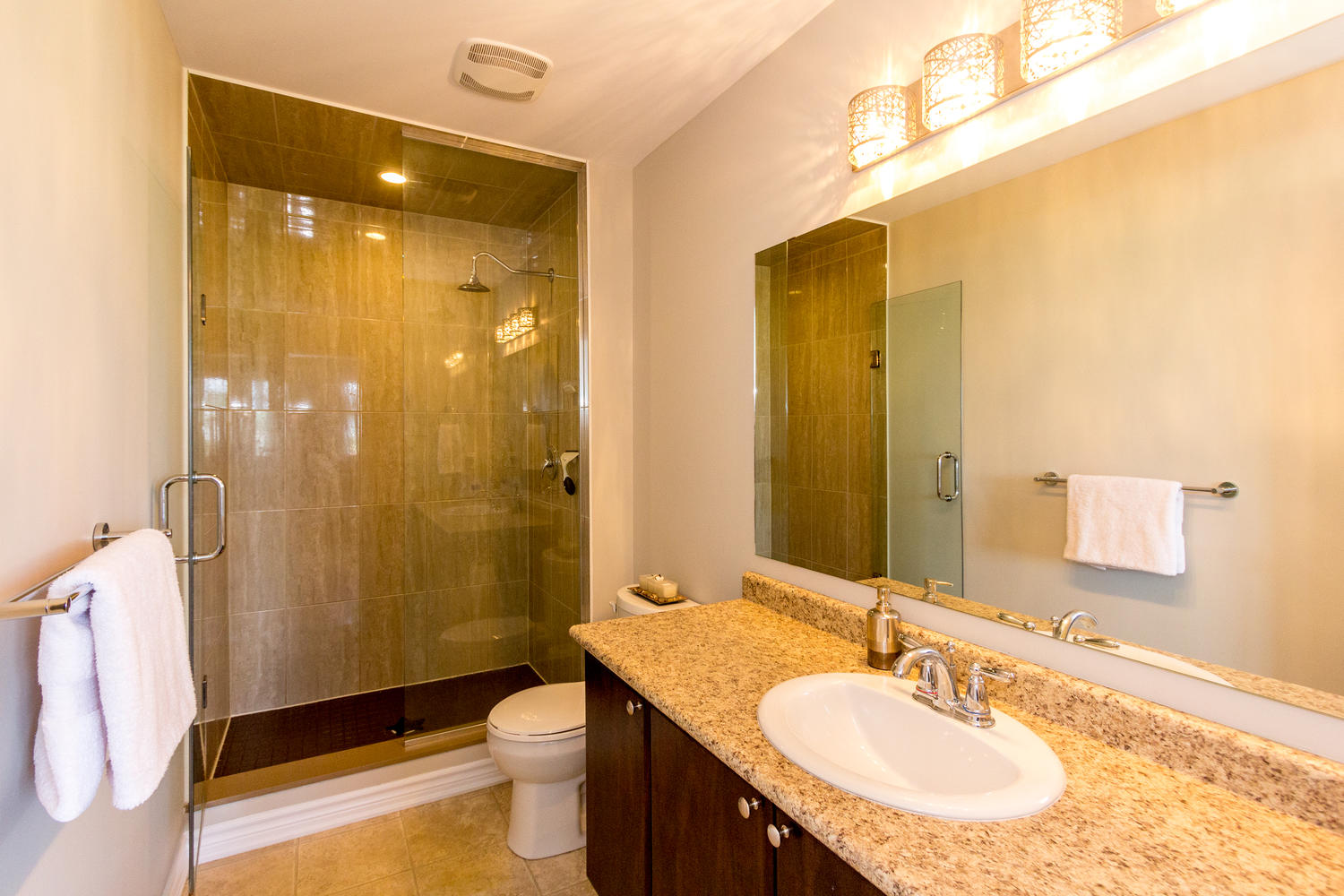 Beautiful Master Ensuite with Lots of Counter Space and a Large Glass Enclosed Shower, big enough for 2 OR MORE :o