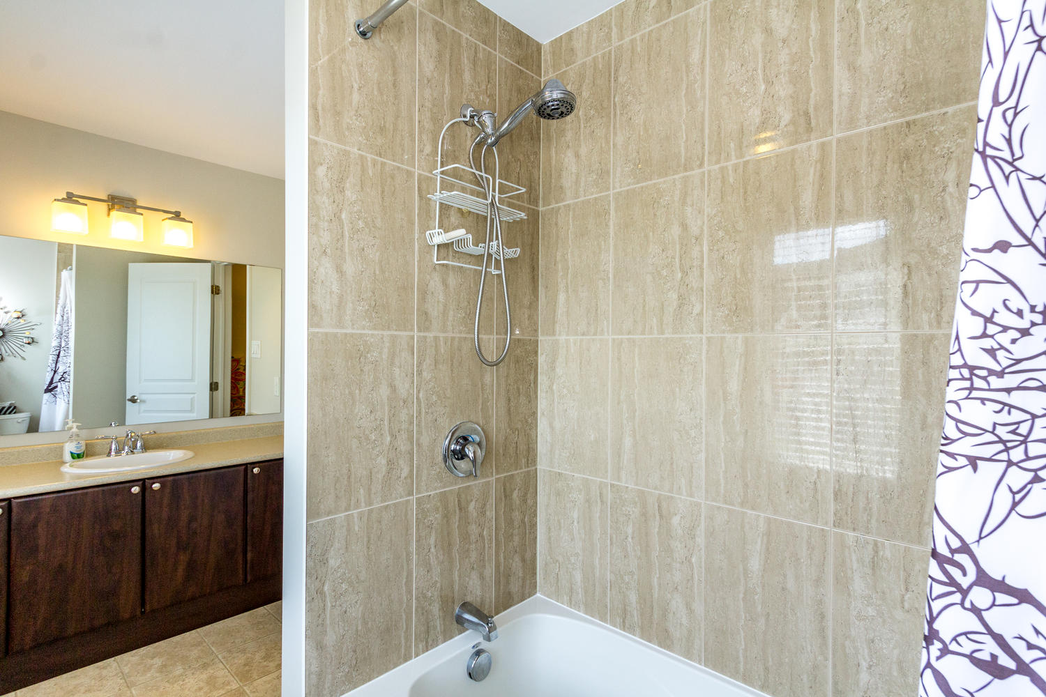 Large Full bath on the second level.  Beautifully tiled shower.