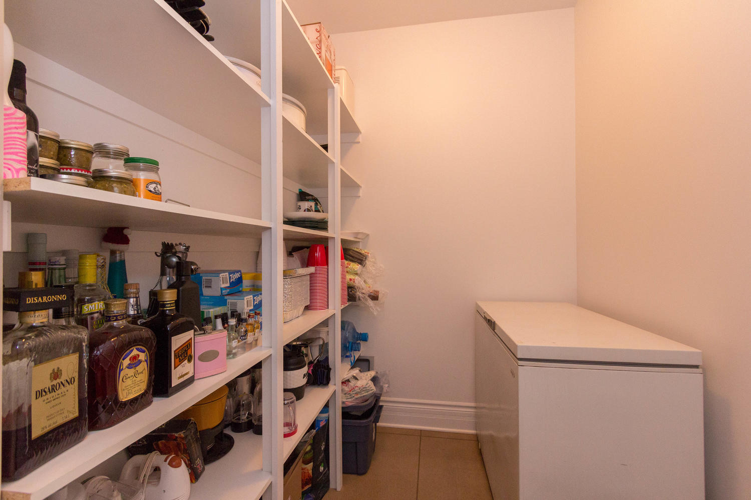 IF the kitchen didn't have enough storage for you, there is a large pantry right off the kitchen.
