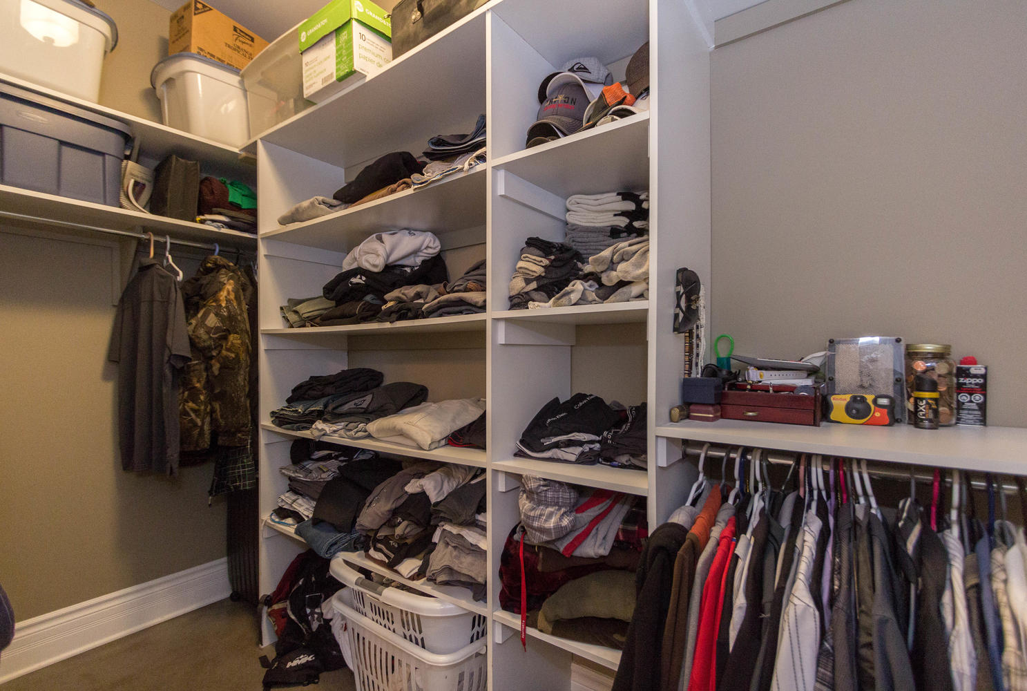One of two walk in closets for the master.
