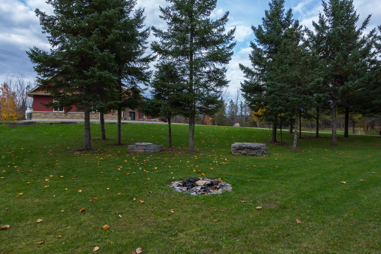 With 5 Acres of country living, you certainly need a fire pit!