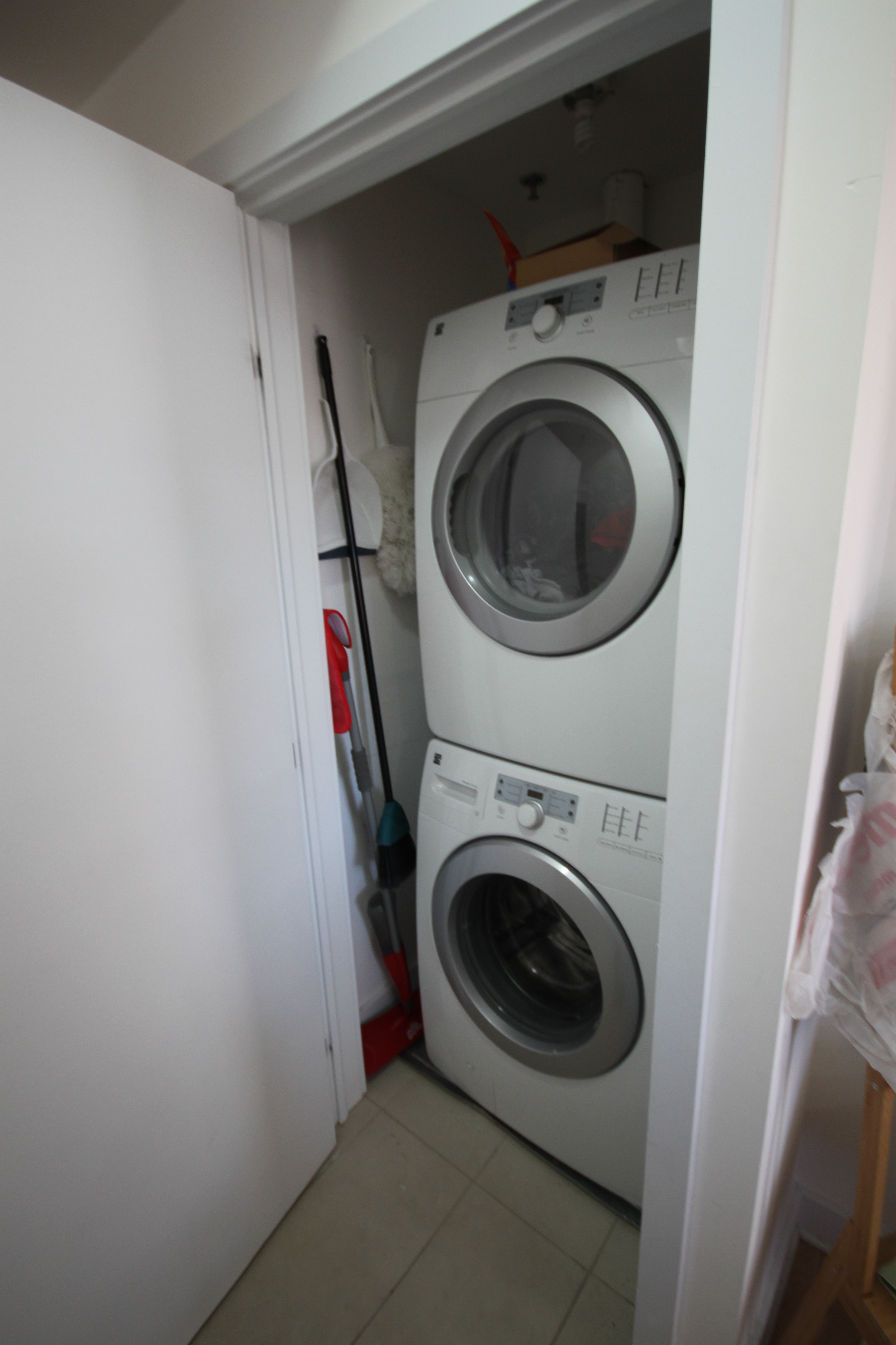 Laundry Area In Entrance Closet