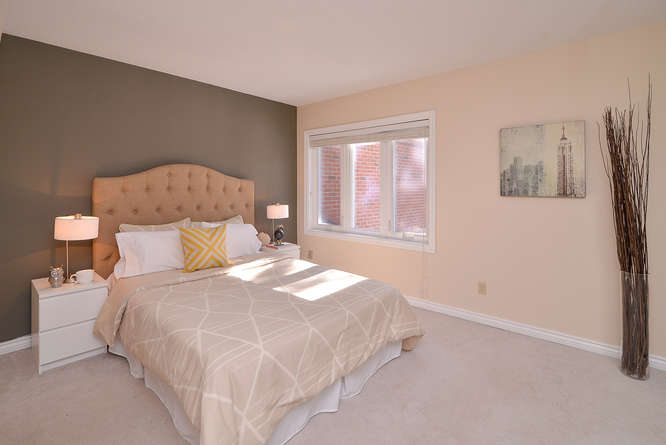 Spacious master bedroom with ensuite bathroom, wall to wall closets, lots of natural light.