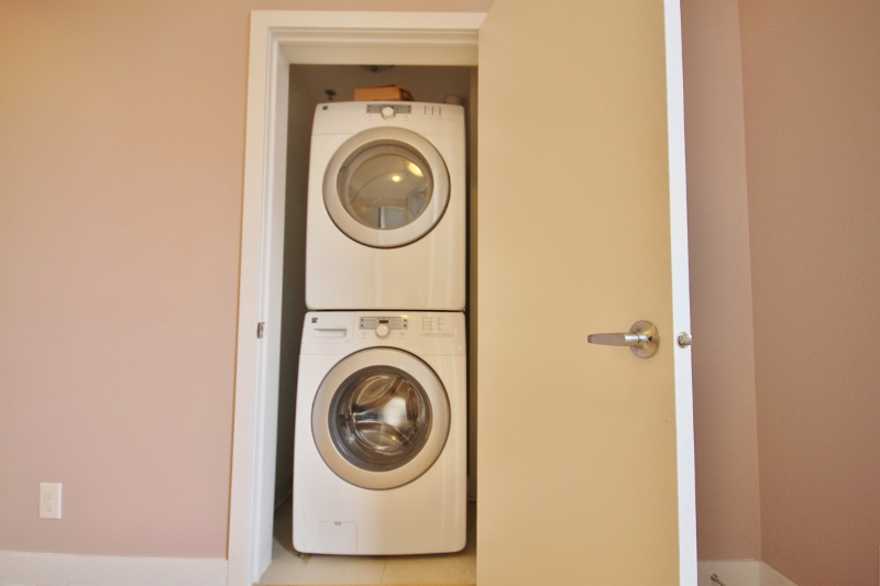 No more hunting for change and guarding your laundry, this unit comes with in unit laundry!