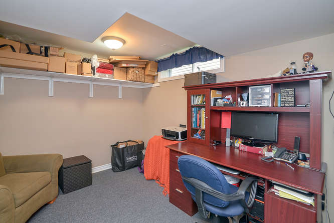 Fourth bedroom/office located in the lower level.