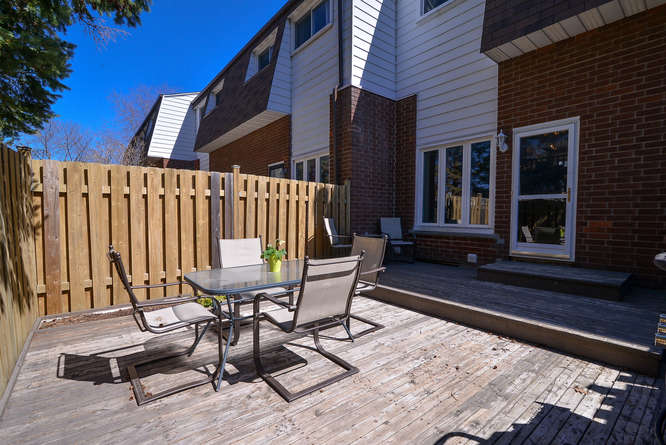 Gorgeous low maintenance back deck.  Great for summer bbq`s no rear neighbors!!!