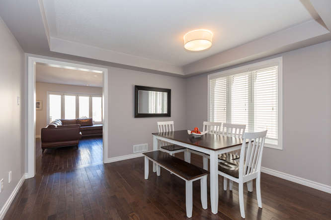 Bright and open formal dining area