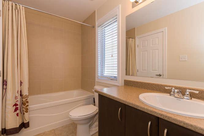 Main full bathroom on the upper level.