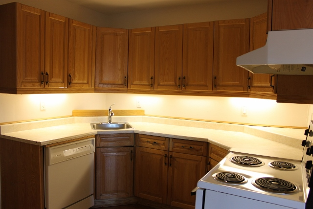 Spacious Kitchen with ample counter space and cabinetry.