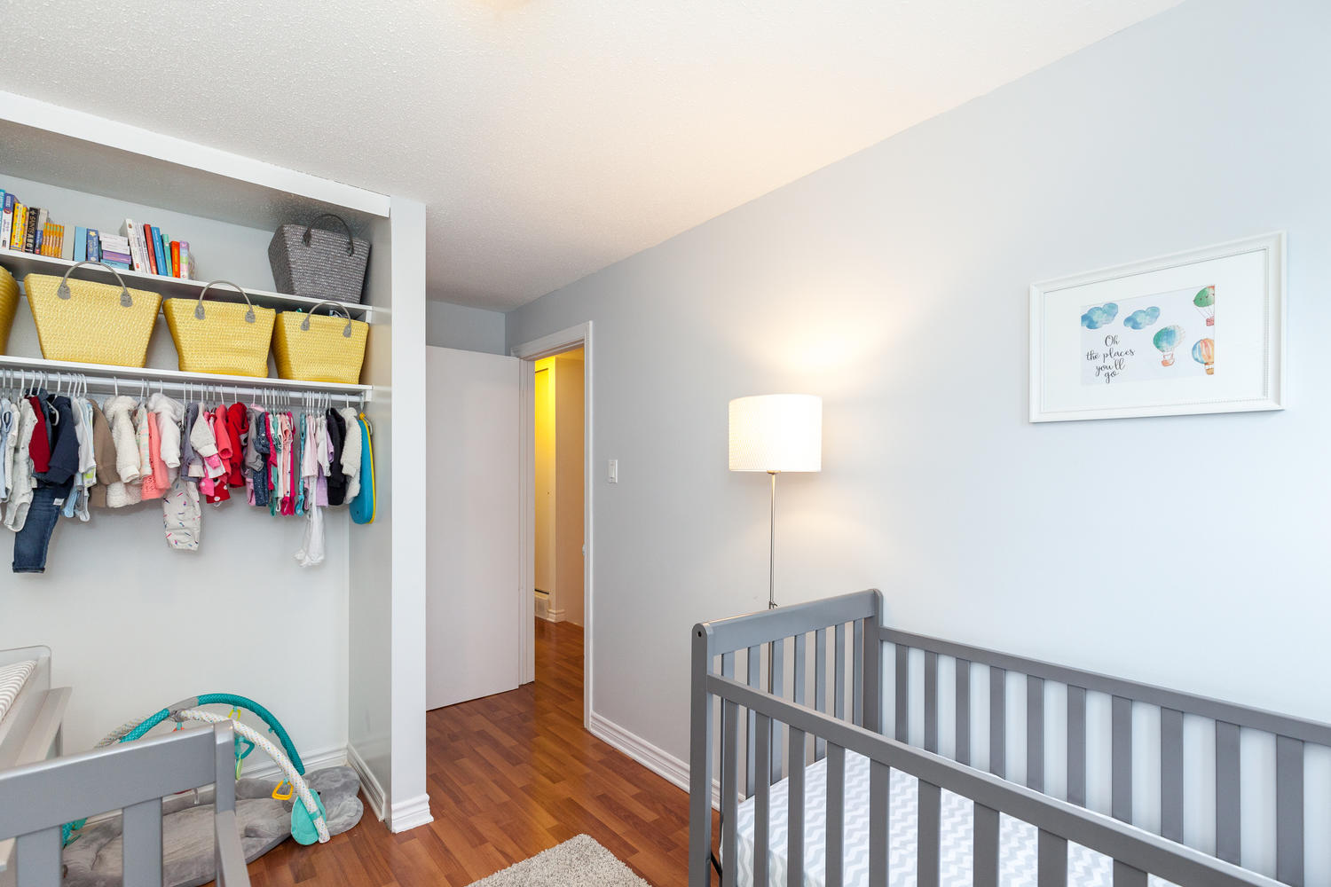 One of three bright bedrooms.