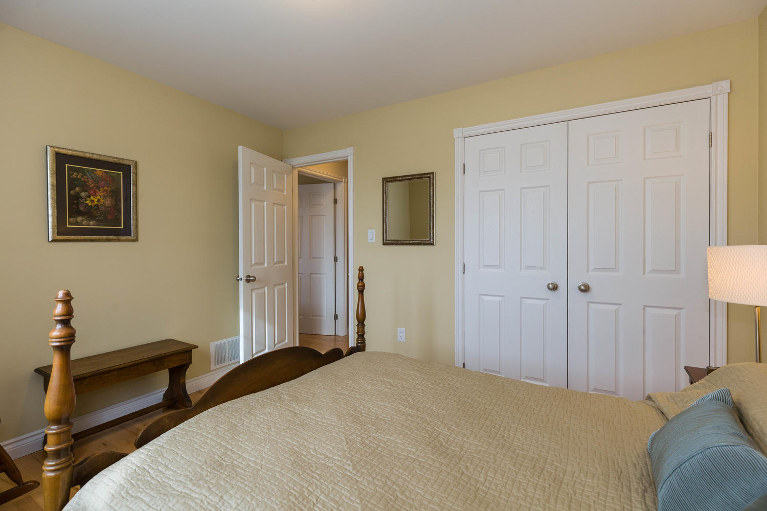 The second bedroom on the main level.