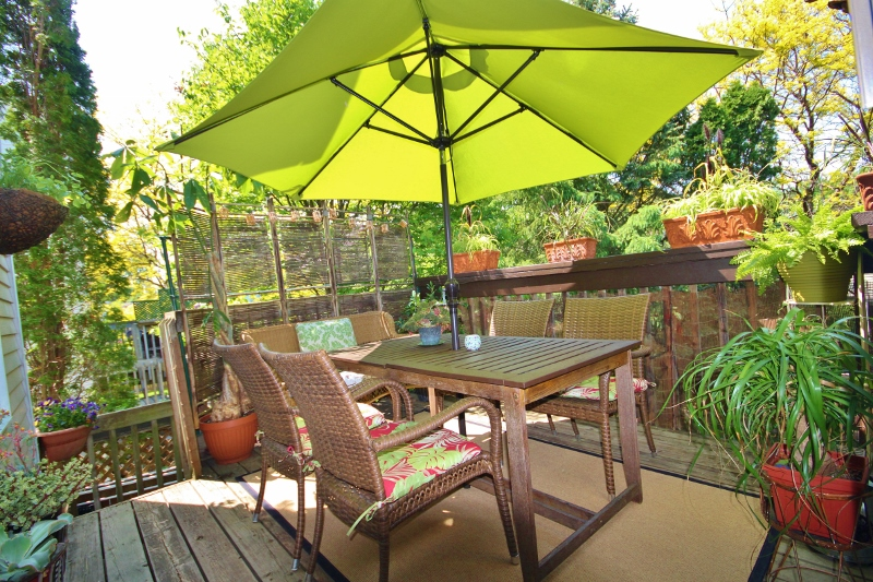 Look over your amazing back yard and enjoy summer evening dinners with family and friends on this spacious deck.  Underneath is a covered deck.