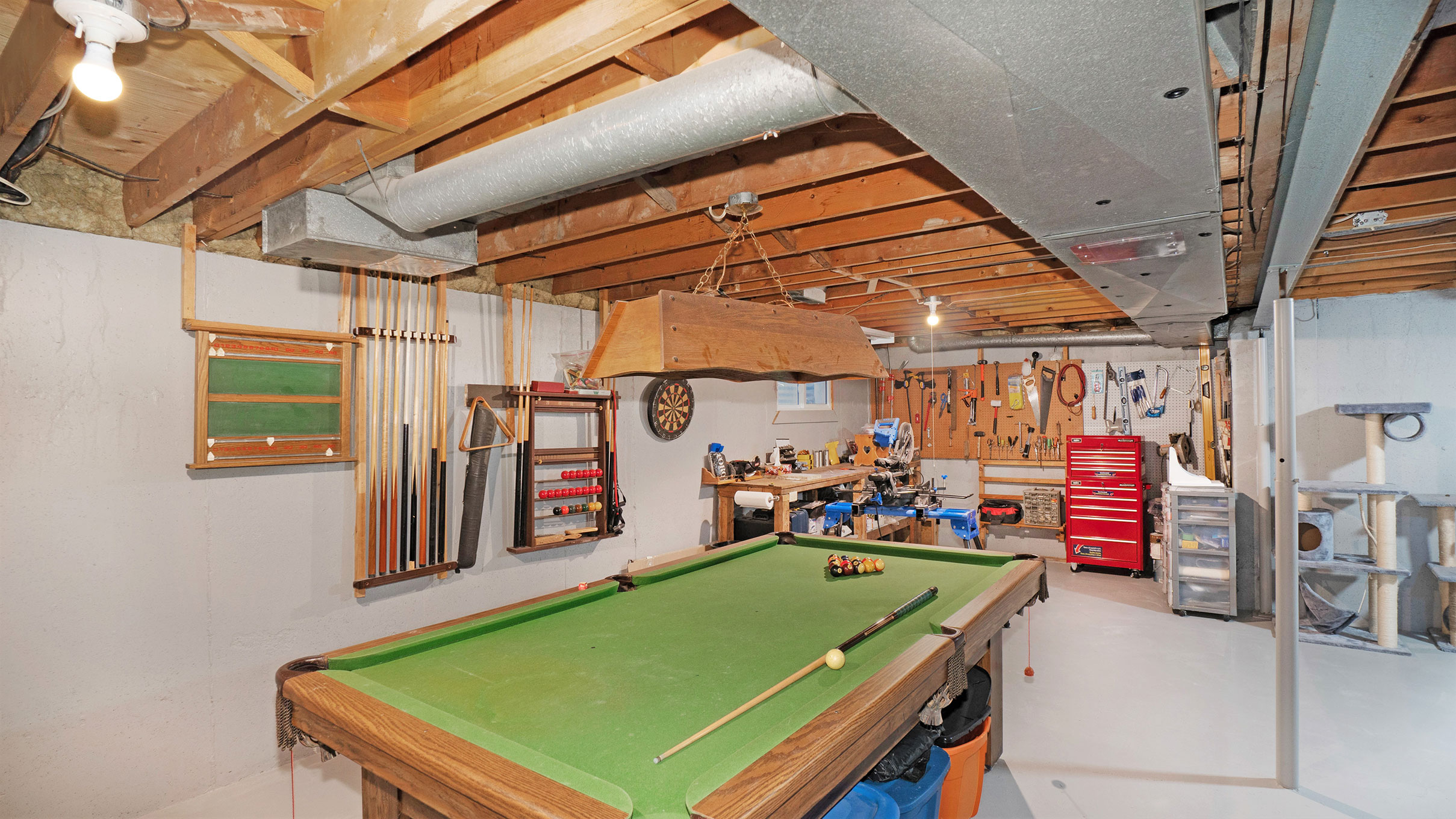 Games Room and Workshop currently, but the options are unlimited!