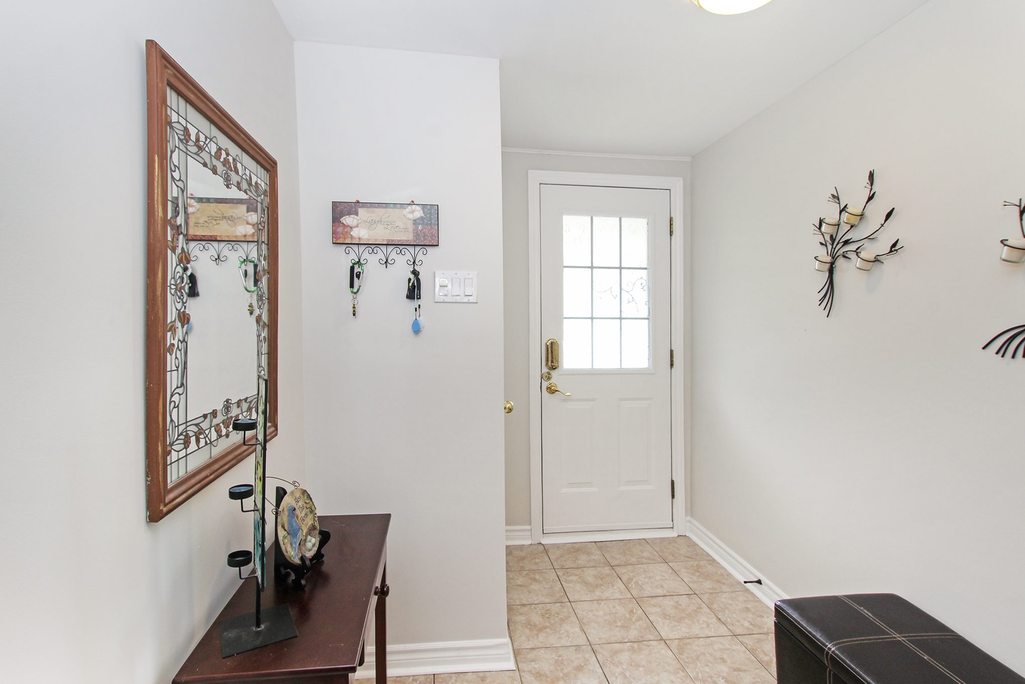 Spacious Entry with storage and inside access to garage