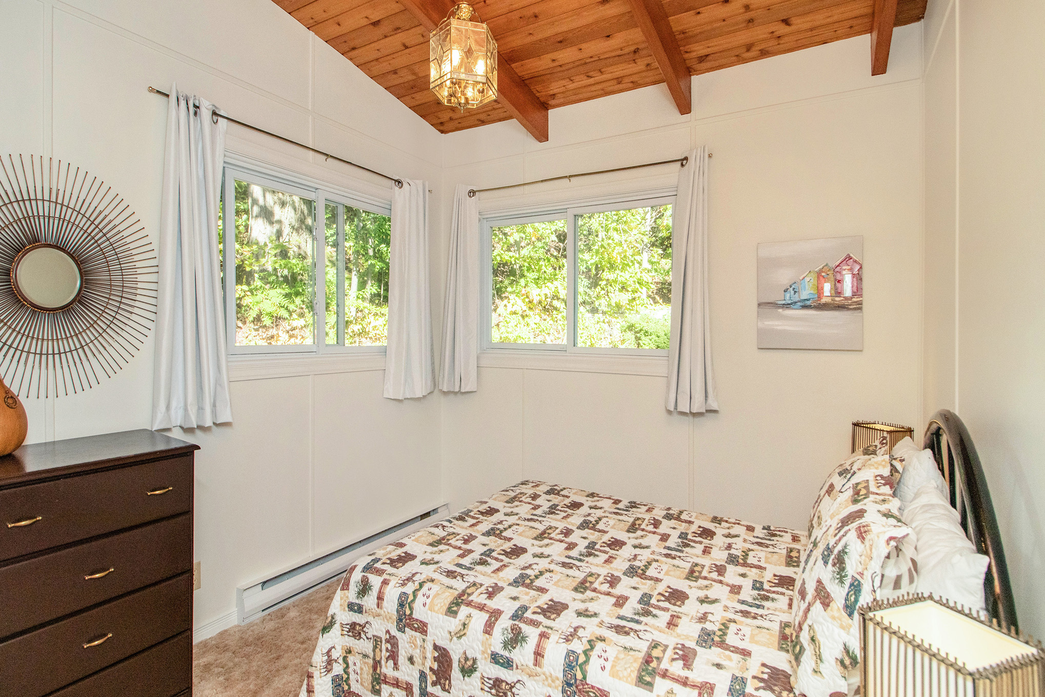 3rd bedroom of the home.  Peaceful and relaxing views of the forest.