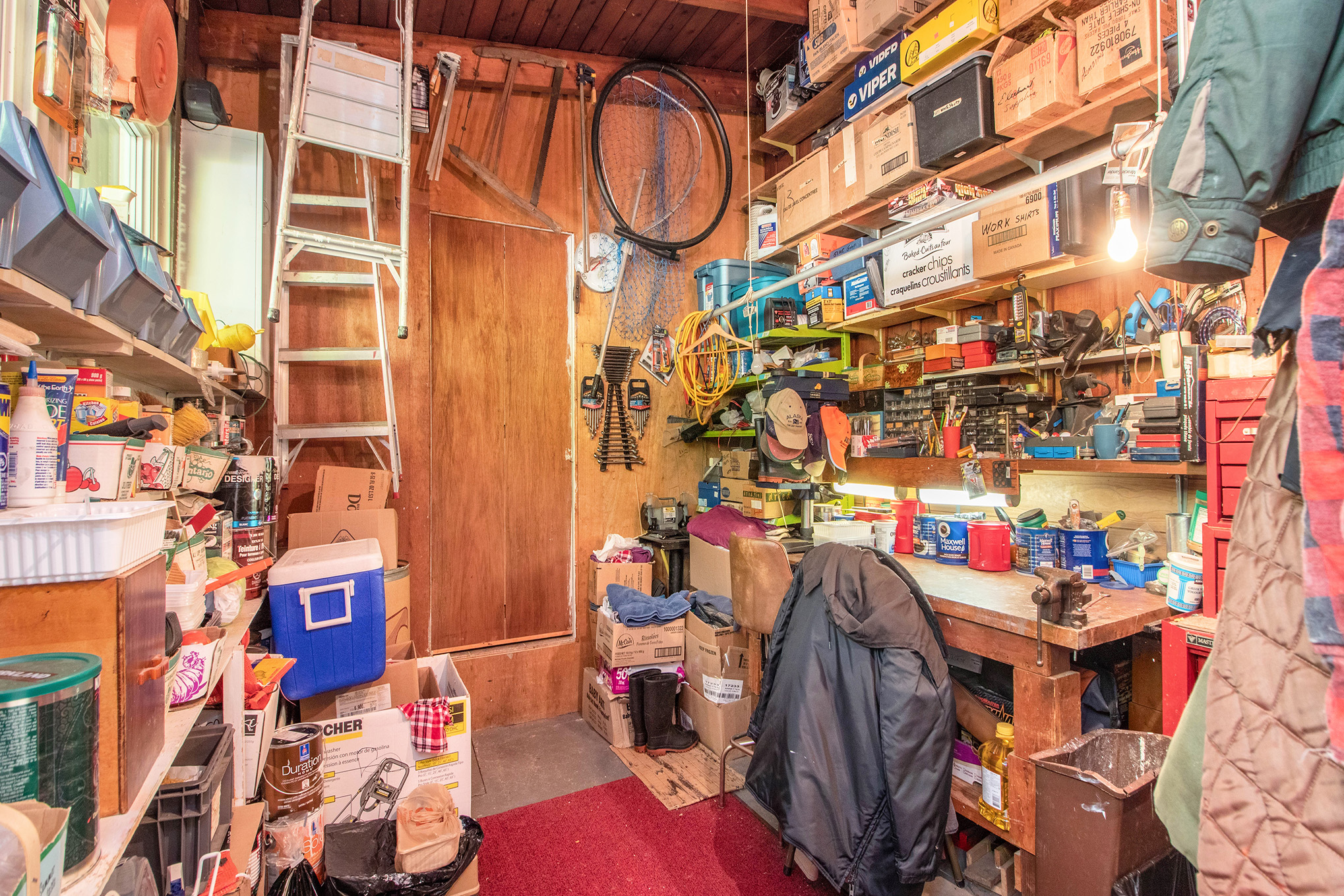 Great workshop or storage room.  Plans to renovate the kitchen and move the laundry room to this area on hand.