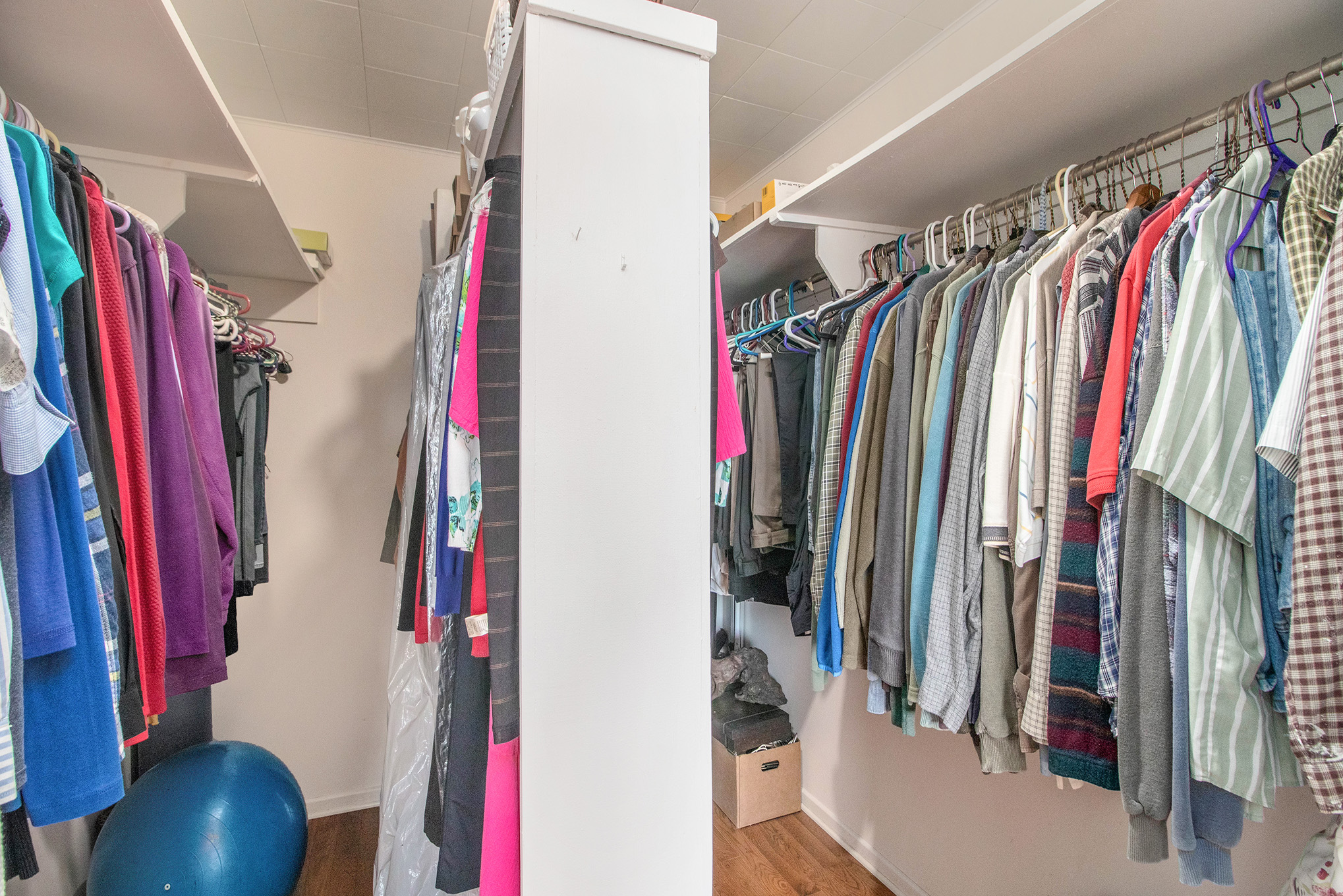 A Very Large Ensuite closet that's set up as a his and hers combo.  You won't find much larger than this.