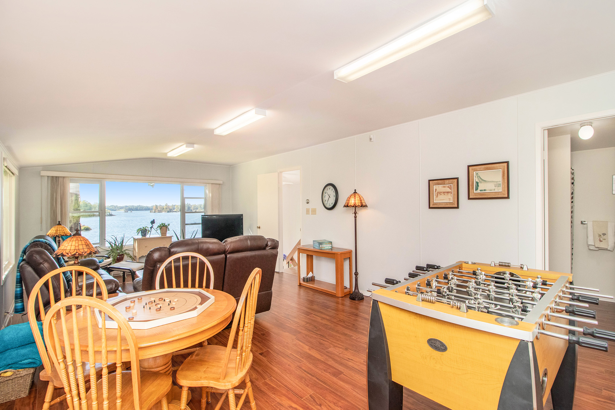 An absolutely fantastic space with stunning views both East and South, that's currently used as a family room and games area, has a 3 piece bath as well attached.