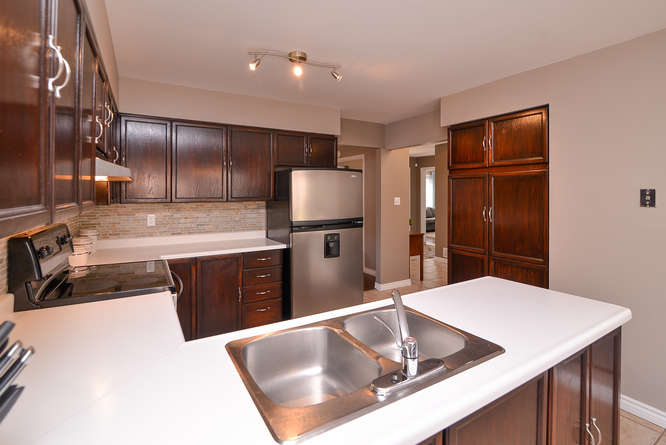 Spacious updated kitchen with lots of counter space, loads of cabinet space and Stainless steal appliances.