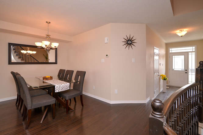 Spacious dining area that can accommodate a large dining table,