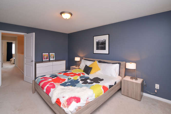 Great sized master bedroom with a large walkin closet and a 4 piece master bath