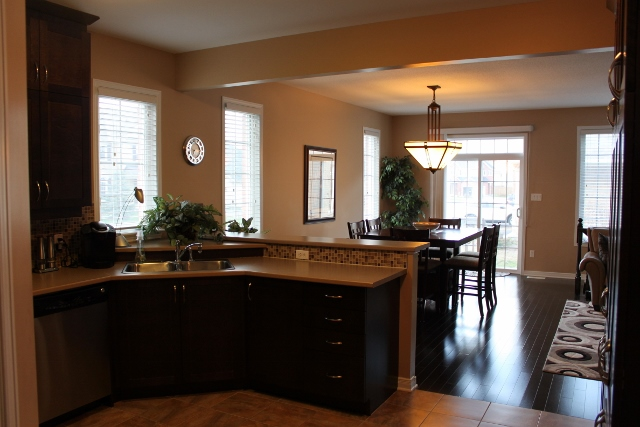 Open Concept Kitchen / Dining Space